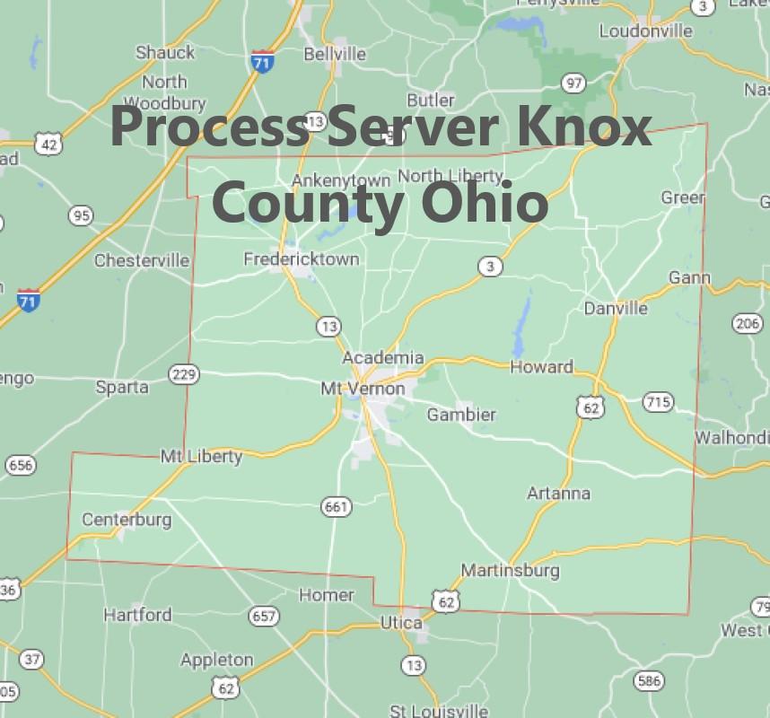 Process Server Knox County Ohio