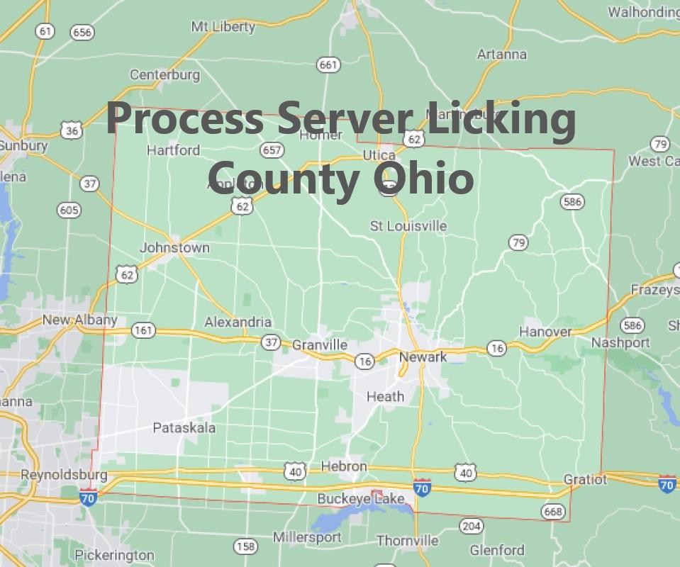 Process Server Licking County Ohio