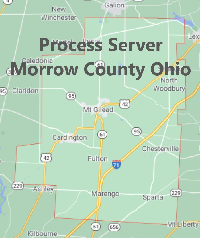 Process Server Morrow County Ohio