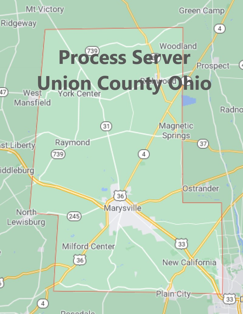 Process Server Union County Ohio